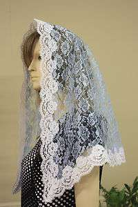 mantilla Catholic church chapel scarf lace headcovering Mass latin R