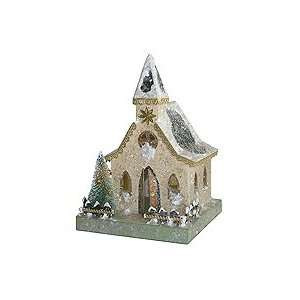 Snowy Putz Village Church ~ Ivory