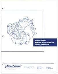 Repair Parts Manual Borg Warner Velvet Drive 5000 Transmission
