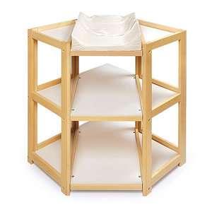 ... Badger Basket Diaper Corner Changing Table, Natural ...