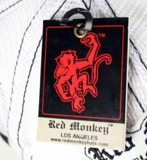Red Monkey Dead of Night Trucker Cap Hat Black White