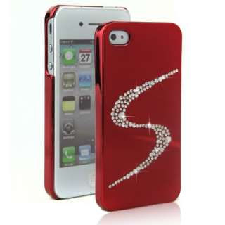 iphone 4 4s Silver bling cover case with Swarovski Crystal* Protector
