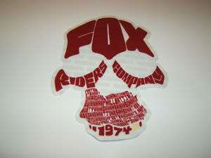 FOX RACING MOTOCROSS QUAD BMX SKATEBOARD RED FOX RIDERS 1974 STICKER
