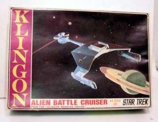 1960s Star Trek AMT Klingon Model Kit w Lights in Box
