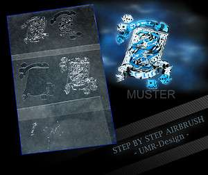 Airbrush Stencil Template 5 Steps AS 023 M Size 5,11 x 3,95