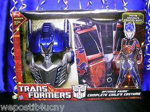Transformers Optimus Prime Costume with Mask Childs Size Medium NIB