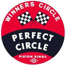 Vintage PERFECT CIRCLE Piston Rings Vinyl Decal Sticker