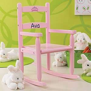Personalized Rocking Chair for Girls   Pink Home