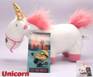DESPICABLE ME Fluffy Unicorn New/tag 8 Toy Plush Doll