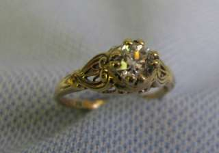 to 1915 1/2 Ct 14 KT Yellow gold ladys Diamond Ring size 5.75