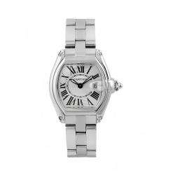 Cartier Womens Rondo Solo Stainless Steel White Dial Watch