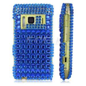 Ecell   BLUE SQUARE CRYSTAL DIAMOND BLING CASE FOR NOKIA