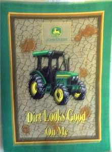 John Deere Green Tractor_ Dirt Looks Good on Me_ Finished Blanket