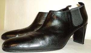 ANTONIO MELANI 9.5 M BLACK LEATHER HEELS Boots Shoes Ankle