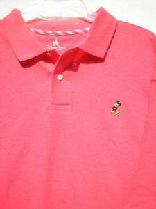 Small Mickey Mouse Salmon Polo Shirt NWT Disney World