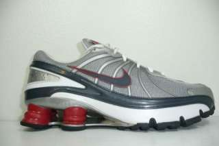 Nike + Shox Turbo VII Mens Size 9 Running Shoes Grey Red NZ Trainer