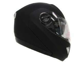 FULL FACE MODULAR MOTORCYCLE FLIP UP HELMET DUAL SHIELD SUN VISOR ~L