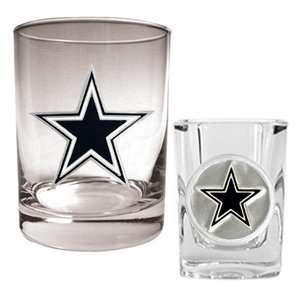 American Products NFL Dallas Cowboys Rocks Glass and Shot Glass Set