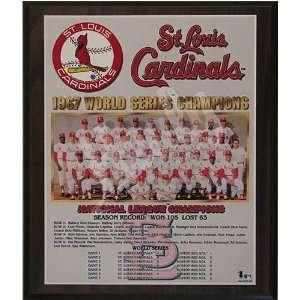 1967 St. Louis Cardinals World Series Champions Team 13x16