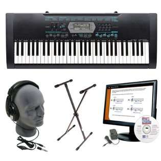 Casio Inc. Casio CTK 2100 Keyboard Package with Stand, AC Adapter,