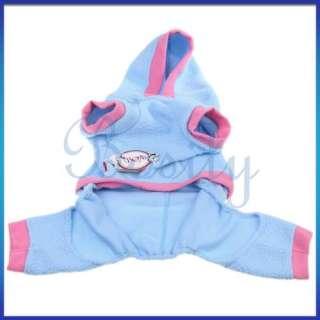 Pet Dog Warm Coat Hooded Jacket Pant Clothes Apparel Sz