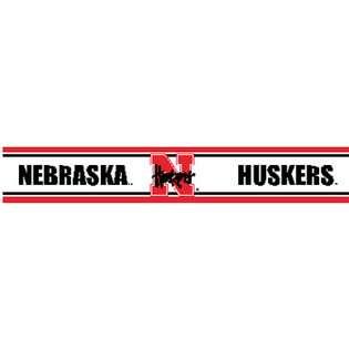 Univ. Nebraska Huskers   Wallpaper Border  NCAA Nebraska Huskers