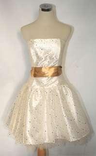 NWT JESSICA McCLINTOCK $130 Gold Cocktail Dress 11