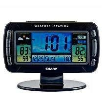 Sharp Atomic Wireless Weather Station Clock