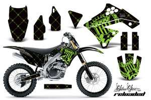 AMR RACING DIRT BIKE NUMBER PLATE BACKGROUND DECALS KAWASAKI KXF 250