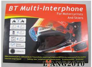 Bluetooth Motorcycle Helmet Headsets Intercom 500M FM interphone