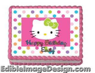 HELLO KITTY Edible Cake Party Decoration Image Topper