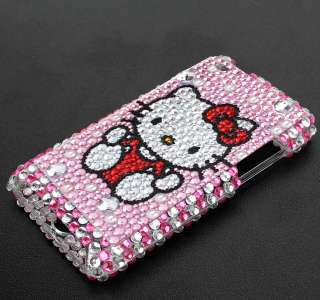 Pink Hello Kitty Bling Hard Case fit iPod Touch 4G 4th