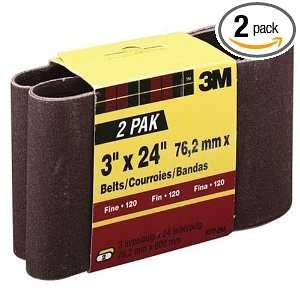 3M 9272NA 2 Heavy Duty Power Sanding Belts, 3 Inch x 24