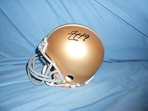 Notre Dame Irish AARON LYNCH signed Mini Helmet