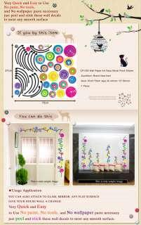 CP 039 FLOWER VINE PEEL & STICK WALL ART DECO STICKER