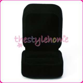 Cute Black Velvet Ring Jewelry Display Case/Gift Box