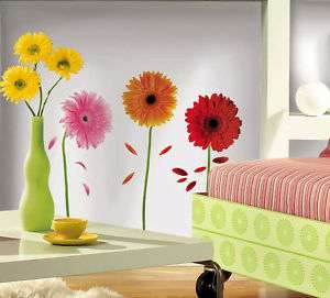 Gerber Daisies Girls Nursery Home Wall Sticker Decals