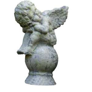 Garden Relics Dreaming Angel with Moss Green Finish Patio