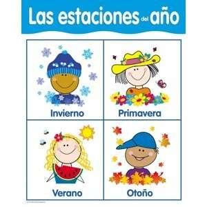 Las estaciones del ano Spanish Skills Chart Toys & Games