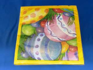 20 pk Easter Watercolor Eggs Luncheon Napkins #1828
