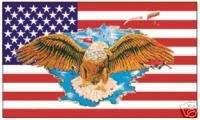 UNITED STATES USA FLAG AND EAGLE EMBLEM LOGO FLAG