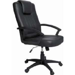 Black Faux Leather Computer Office Chair