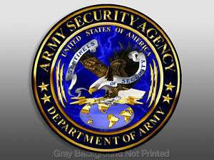 ASA Army Security Agency Seal Sticker   decal logo dept