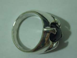 Sterling Silver Black Star Sapphire Ring size 11.5 new.