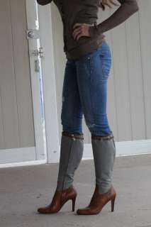 Collection~Gorgeous Gray felt & leather riding boots~9.5~$1,095