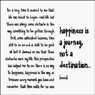Quotable Happines Is A Journey Blank Cards: Home & Kitchen