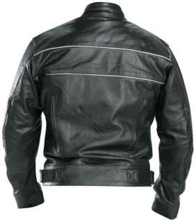 Classic Mens X Force Black Racer Motorcycle Jacket 2XL