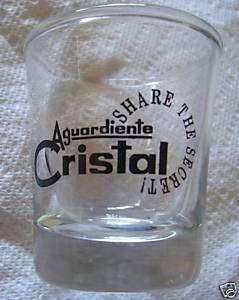 Shot Glass Aguardiente Cristal (Columbia Liqu)