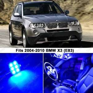 BMW X3 ULTRA BLUE LED Lights Interior Package Kit E83 (12