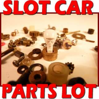 COX VINTAGE SLOT CAR MOTOR PARTS LOT PINION GEAR DRIVER HEAD BRASS